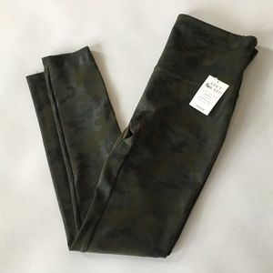 Spanx Faux Leather Camo Leggings Green SOLD OUT
